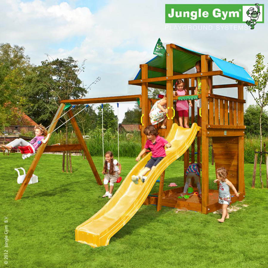 Детская площадка Jungle Gym Fort + Swing Module Xtra